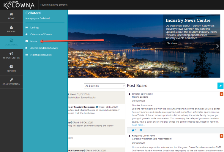 Extranet Collateral Tab - Media
