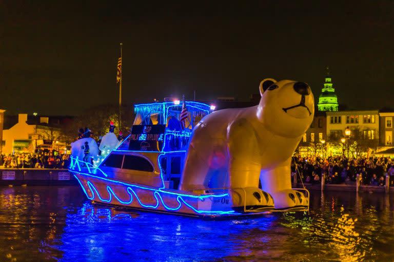 Eastport Yacht Club Lights Parade circa 2014