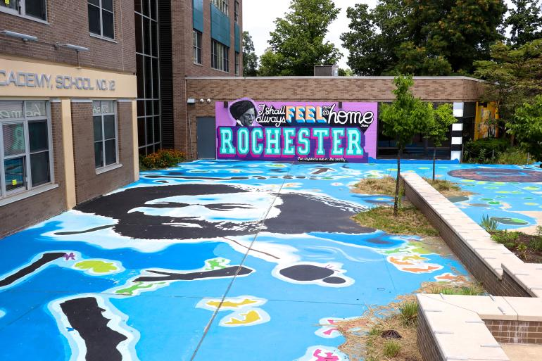 Frederick Doulgass Mural on South Avenue