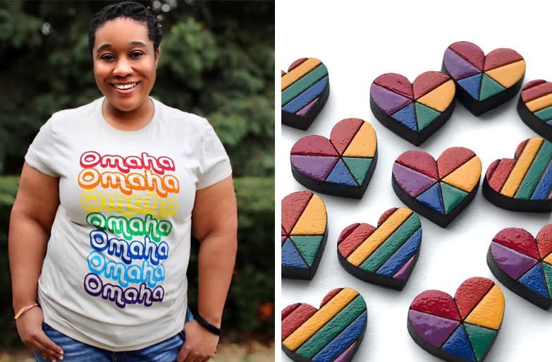 Pride merchandise in Omaha