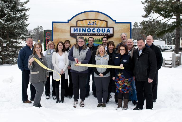 let's minocqua ribbon cutting