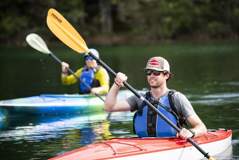 Man & Woman Kayaking in Minocqua
