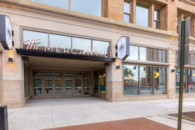 Exterior entrance to Mercantile on Main, Rochester NY