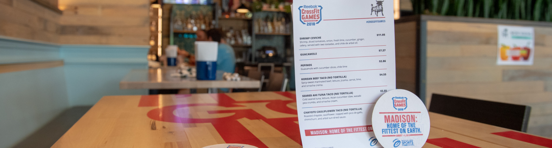 CrossFit Games menu