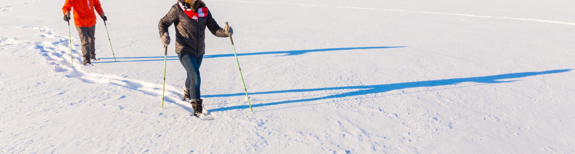 Skiers on Lake Mendota