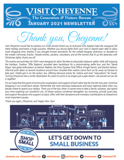 Blue and white cover of newsletter