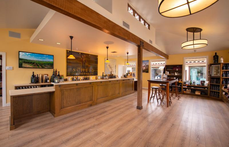 Interior of Scheid Vineyards tasting room