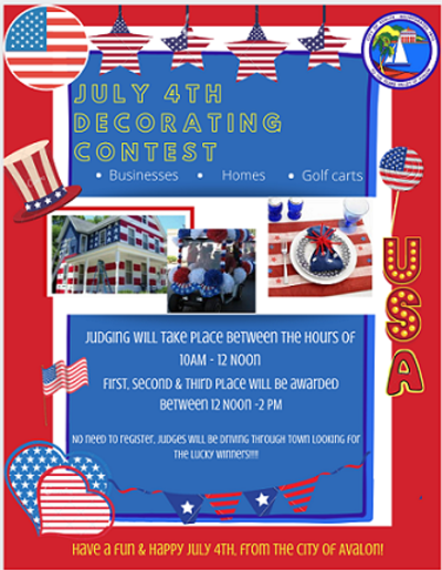 July 4th Decorating Contest Flyer