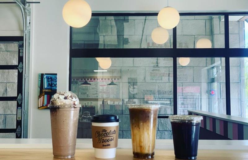 Four types of coffee from The Chocolate Moose