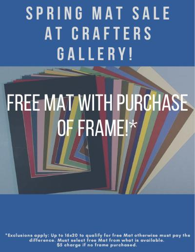 Crafters Gallery Spring Mat Sale