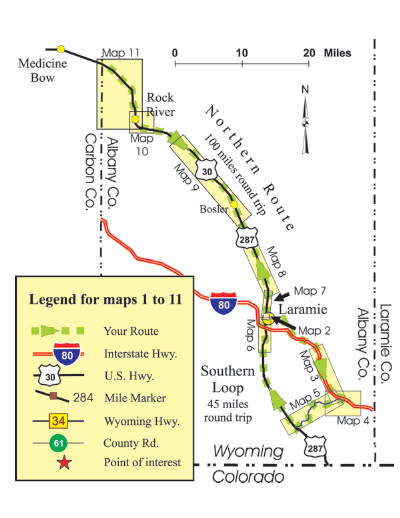 Lincoln highway map overview