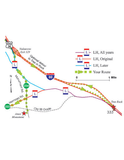 Lincoln Highway Map-4-I-80-Exit-329-to-Hermosa-Road