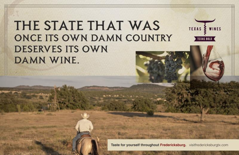 March Graphic for Wine Campaign - horse in field.
