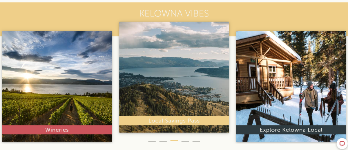 In Kelowna Market Homepage Dynamic Content Example