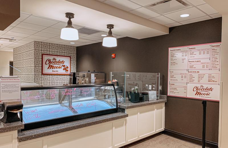 The Chocolate Moose kiosk at the Indiana Memorial Union