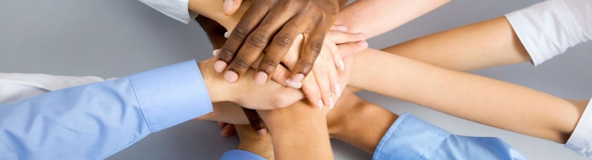 Team building hands