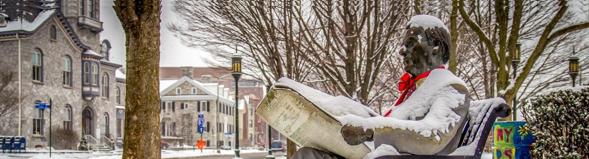 Newspaper Statue Harrisburg