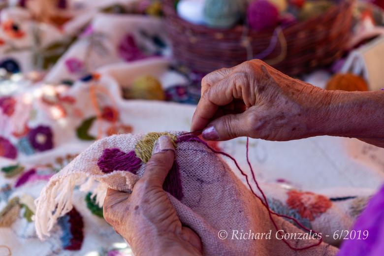 Las Golondrinas: Embroidery