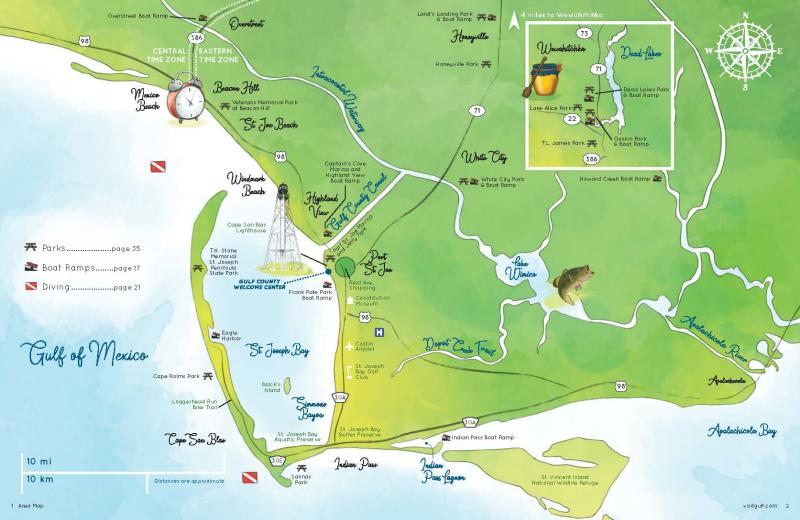 Gulf County Area Map