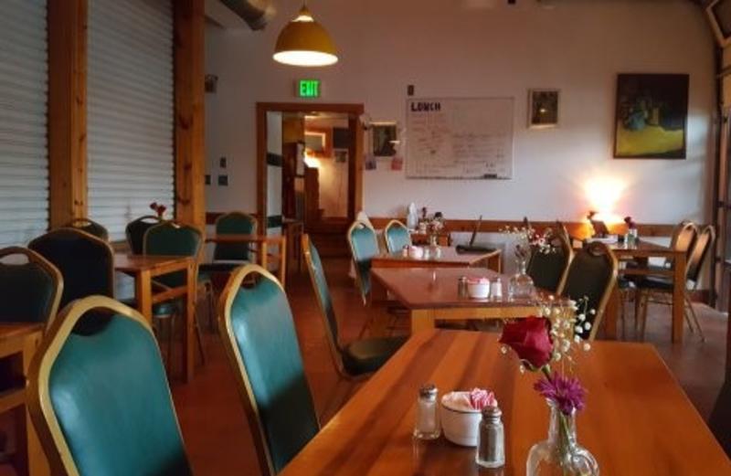 Interior of Le Petit Cafe
