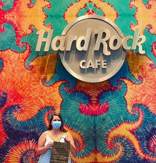 Mask Up selfie at Hard Rock Casino in Biloxi