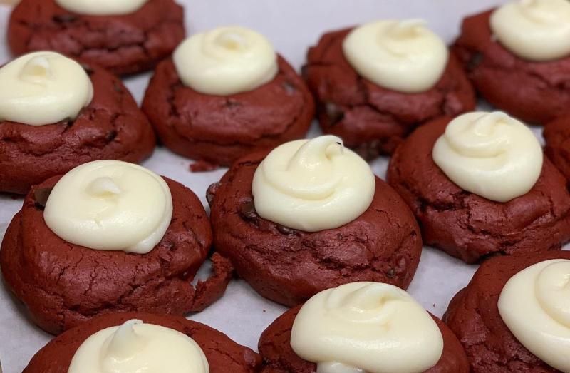 Red Velvet cookies from Baked!