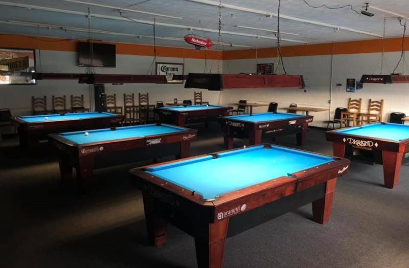 Billiards hall inside of Steve's Place