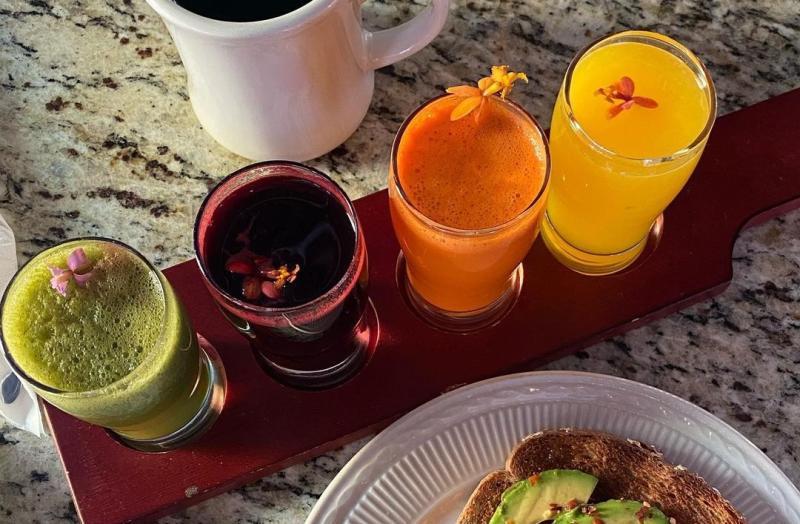 Juice flight from Bedrak Cafe
