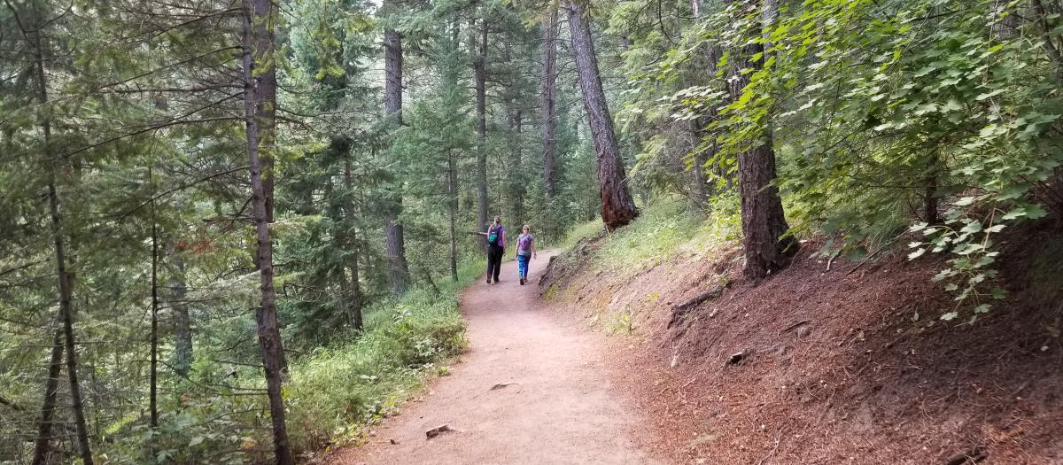 Hikers on Boulder Ranger Trail
