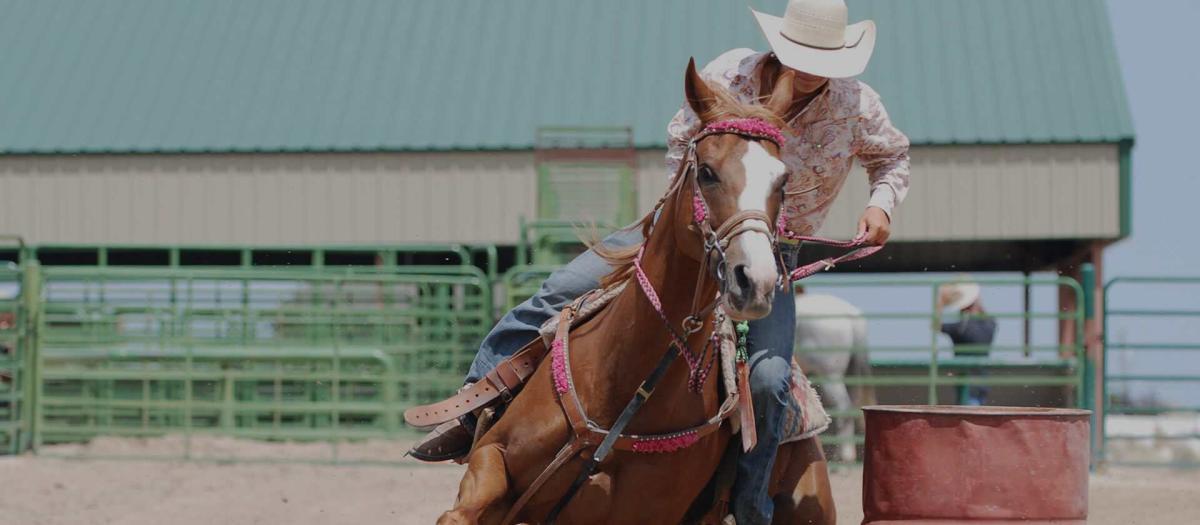 Horseback riding at the Rodeo