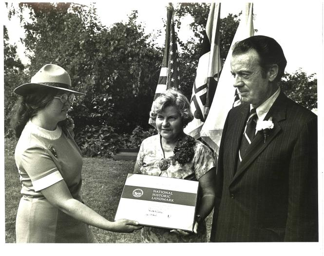 Dedicating the William Brown House at London Town circa 1970's