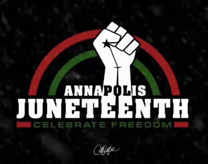 The Annapolis Juneteenth Festival logo was created by Comacell 'Cell Spitfire' Brown.