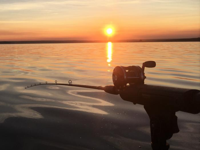 fly fishing the north platte at sunset