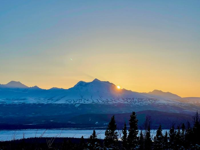Eastern Alaska Range sunset