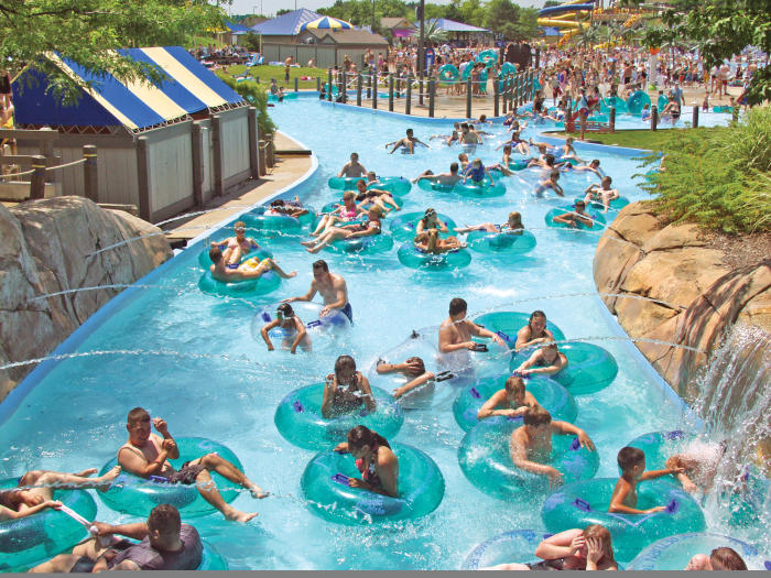 Crowds Of People In A Pool At Magic Waters In Rockford, IL