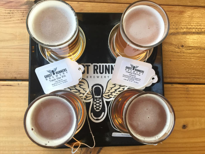 Ghost Runners tasting flight