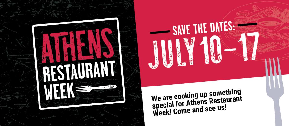 Athens Restaurant Week partner facebook cover image
