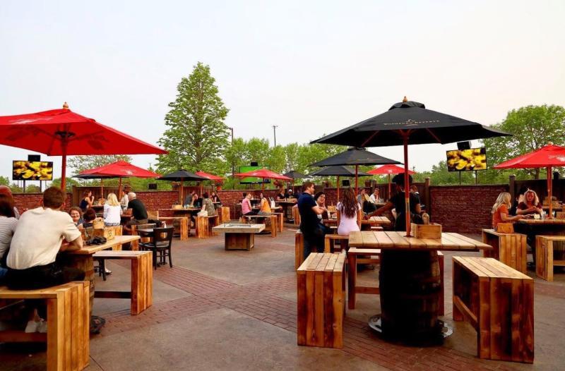 Brick & Bourbon patio