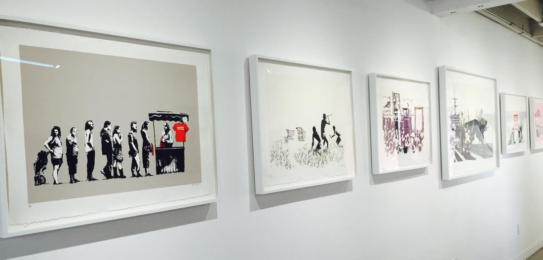 Banksy Exhibit at Artists Republic in Laguna Beach