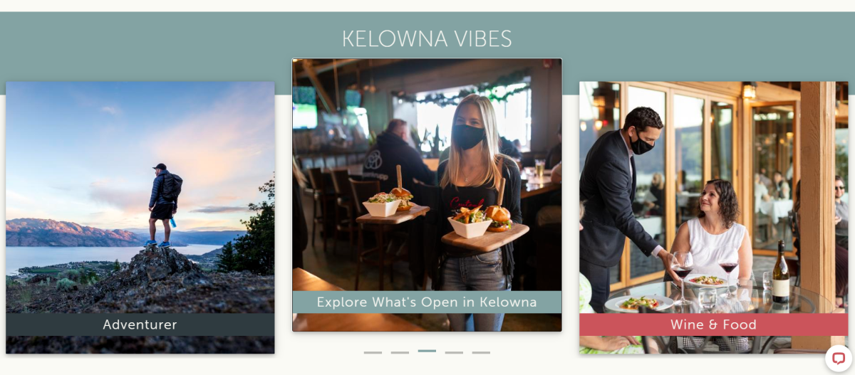 Out of Kelowna Market Homepage Dynamic Content Example