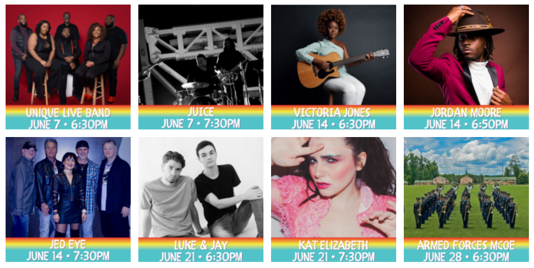 Concerts in the Park 21 lineup 1