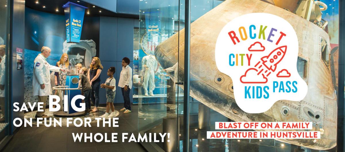 Rocket City Kids Pass header
