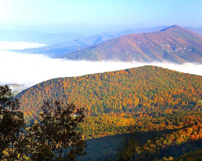 Fall Purgatory Mountain Virginia