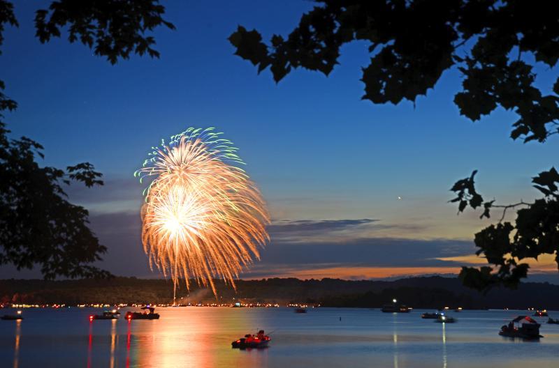 fireworks at monroe lake