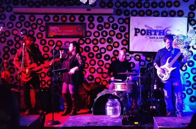 A band performing at the Port Hole Bar & Grill