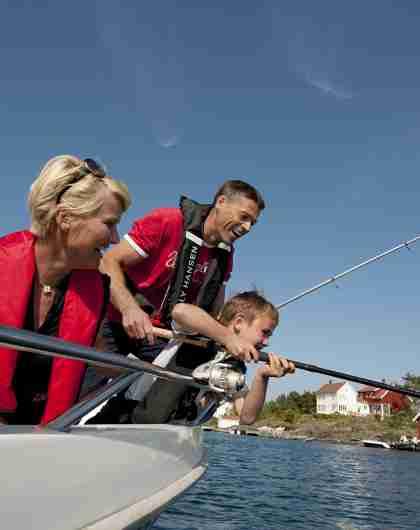Fishing in Lyngdal Norway