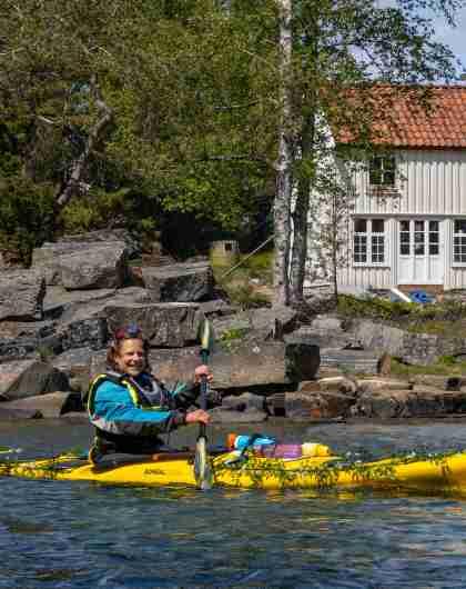 Kajakktur 17 mai ved Langøya, Kristiansand
