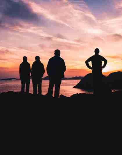 Solnedgang ved Lindesnes Fyr