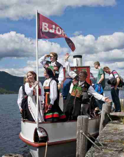 Steam boat Bjoren in Setesdal