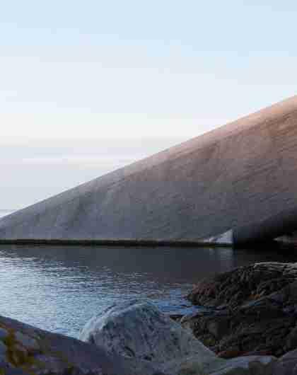 Underwater restaurant Under Lindesnes exterior